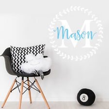 Custom Name Personalise Kids Baby Boy Bedroom Wall Sticker Nursery Decal Decor