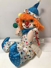 Vintage 1980s Wind Up Musical Clown Doll Wind Up Working Music, Head Moves