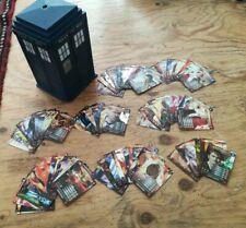 Doctor Who cards & dvds bundle - Battles in Time game joblot + TARDIS case