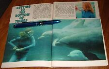 1967 TV ARTICLE~ZALE PARRY~AMERICAN FEMALE PIONEER in SCUBA DIVING~DIVER~DOLPHIN