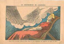Caricature Politique Europe Cauchemar Bruits de Bottes Feldgrau Wehrmacht  1935