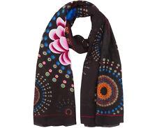 DESIGUAL foulard femme RECTANGLE FRINGES PURE 200 x 110 cm  NEUF