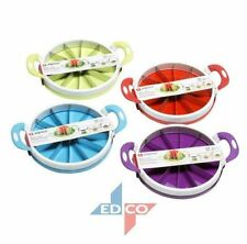 ALPINA Stainless Steel Watermelon Cutter LARGE Soft Grip Hand & SERVING PLATE