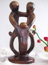 Vintage Hand Made Sculpture Dyed Kisii Stone Unity of the Family Circle - Kenya