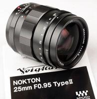 Voigtlander USA 25mm f/0.95  25/.95 Nokton M43 Micro 4/3  MFT  FREE NEXT DAY