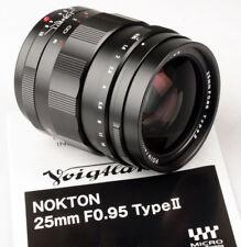 Voigtlander 25mm f/0.95  25/.95 Nokton M43 Micro 4/3  MFT  FREE NEXT DAY USA