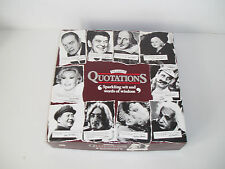 "Vintage ""The Game of Quotations"" by MB Games 1987."