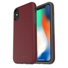 OtterBox Symmetry Series Tough Case Cover for iPhone XS & X - Maroon Fine Port