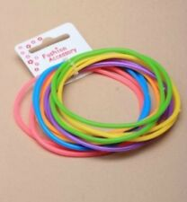 12 Pack Bright Colour Jelly Gummy Bangles Pink Blue Purple Yellow Fancy Dress