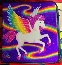 Lisa Frank Skye Rainbow Pegasus Zipped Binder+ Extra Binder.!