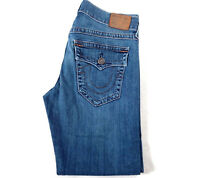 Men's True Religion Jeans 30 x 29 Ricky relaxed straight leg in blue RRP £220