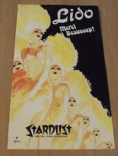 """1970's LAS VEGAS Stage Show Program~""""LE LIDO DE PARIS""""~Show GIRLS~STARDUST~"""