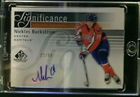 2011-12 SP Game Used Nicklas Backstrom Significance Autograph 32/50 Capitals