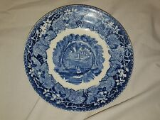 "Mason's China Flow Blue Iron Stone Vista England 7"" Plate Saucer Antique"