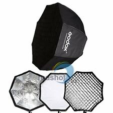 "Godox 120cm/47"" Octagon Umbrella Flash Softbox+Honeycom Grid For Flash Speedlite"