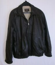 Mens Izod Leather Jacket XXL Dark Brown
