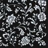 2 Paper Napkins for Decoupage / Parties / Weddings - Black & White Floral
