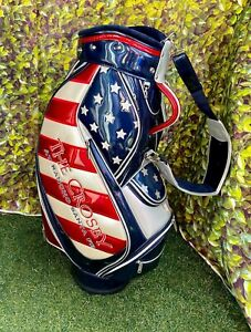 "Limited Edition USA Flag ""The Crosby"" 6 Way Staff Cart Golf Bag,With R/C, NEW!!!"