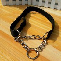 1PC Fashion Pet Half Check Choke Nylon Chain Dog Training Collar