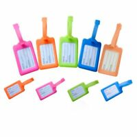 5Pcs Travel Luggage Bag Tag Name ID Address Label Plastic Suitcase Baggage Tags
