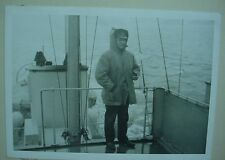 WWII WW2 Canadian Navy Ship Photo Man on Deck Officer Captain Military