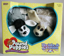 RARE VINTAGE 1996 POUND PUPPIES WEDDING BRIDE AND GROOM GALOOB NEW SEALED !