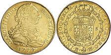 1774 Spanish Gold Coin Carlos III (1759-1788) Monarchi 8 Escudo SS 557/0510