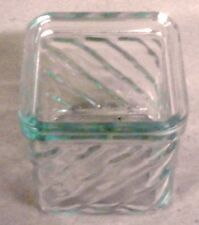 Square 8oz Candle Glass, Wavy Pattern, Glass Only (30)