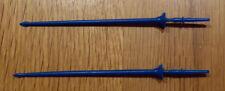 2 Lanzen für Britains Swoppet Ritter, Lances Britains Knight, blau