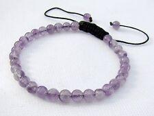 Natural Gemstone Men's beaded bracelet Amethyst February Birthstone 6mm beads