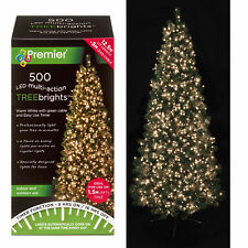 500 LED Christmas TREE Brights Timer Lights Multi Action by Premier - Warm White
