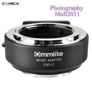 V08 Commlite CM-ENF-E1 PRO AF Adapter For Nikon F Lens To Sony E A9 A7II A7RII