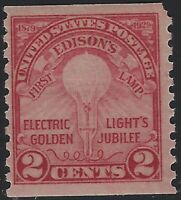 US Stamps - Scott # 656 - Edison's Light Issue - Mint Hinged             (H-760)