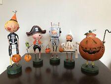 Lori Mitchell Halloween Adorable Figurines Lot of 5!