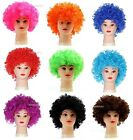 80s CURLY AFRO WIG MULTI COLOUR PARTY CLOWN FUNKY DISCO KIDS CHILDS .