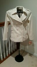 Mudd JM Wool peacoat coat fall Creme White colored! NWT!  😍 Winter wear xmas