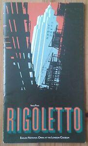 Rigoletto programme English National Opera at London Coliseum 1985 Terry Jenkins