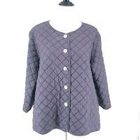 Cut Loose Brand Quilted Lightweight Jacket Size L  Cornflower Blue USA Pockets