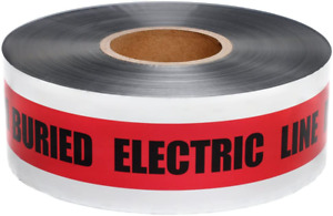 Presco Underground Detectable Warning Tape [5 Mil Thick]: 3 In. X 1000 Ft.