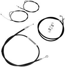 Cable/Brake Line Kit  12-14in. Ape Hangers Black LA Choppers LA-8320KT-13B