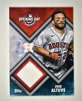 2021 Opening Day Opening Day Relic #ODR-JA Jose Altuve - Houston Astros