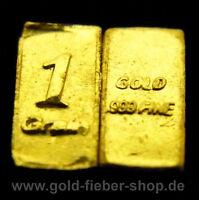 3X 1 Gr Gold Bullion .9999 24k fine Bar | Assay, Nugget, Coin, Certificate, Gift