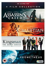 4K UHD Film Collection (Assassin's Creed, The Martian, Kingsman & Prometheus) [4