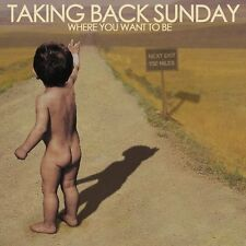 TAKING BACK SUNDAY : WHERE YOU WANT TO BE  (LP Vinyl) sealed