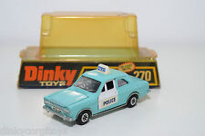 DINKY TOYS 270 FORD ESCORT PANDA POLICE CAR NEAR MINT BOXED