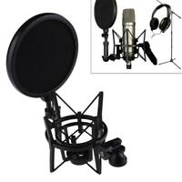Microphone Suspension Mic Professional Shock Mount w/ Filter Fits Rode Kit