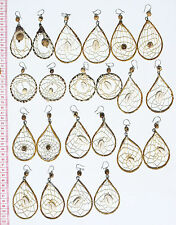 Lot 4 Pairs Tropical Seeds Earrings Handcrafted Peruvian Jewelry Art for Sale