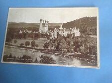 VINTAGE BLACK & WHITE POSTCARD OF BALMORAL CASTLE FROM THE RIVER 1938