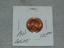 """1961 LINCOLN MEMORIAL PENNY BU """"GEM"""" CONDITION"""