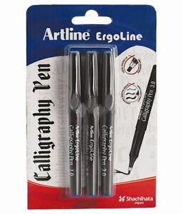 Artline Ergoline Calligraphy Pen Set with 3 Nib Sizes (Blue) - 1 SET